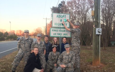 AFJROTC receives 10 year award for Adopt a Highway