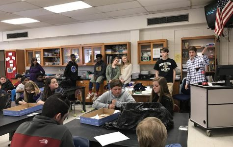 Latin IV students travel to Jefferson Middle School