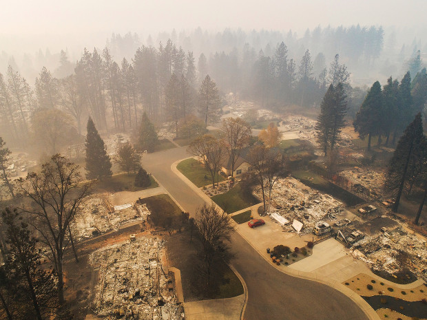 Many+homes+and+buildings+have+been+damaged+or+destroyed+from+the+wildfires.+The+Camp+Fire+has+demolished+multiple+neighborhoods+as+well+as+other+establishments.