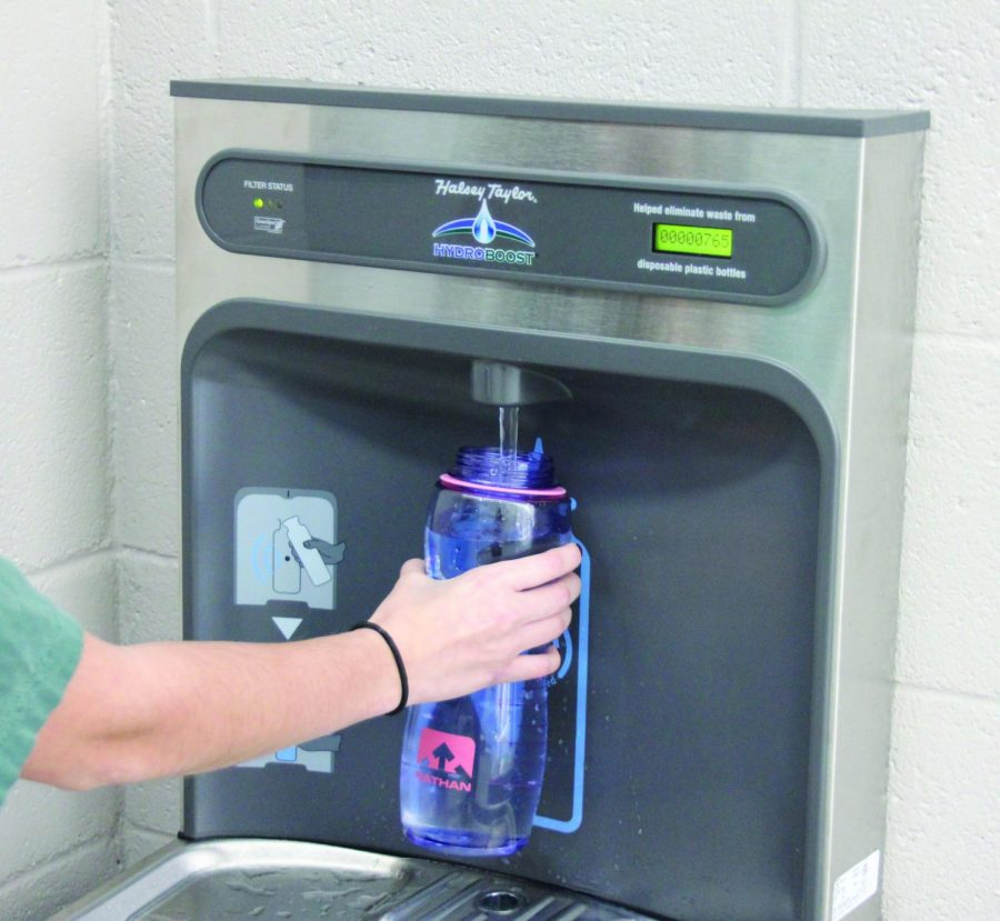 Class of 2019 gifts Reagan with new fountains