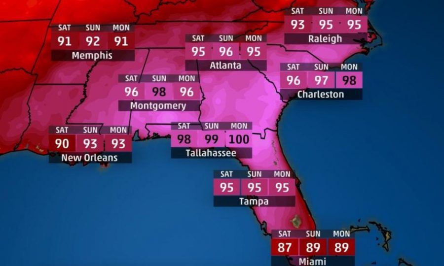 All+through+the+Memorial+Day+Weekend%2C+many+cities+across+the+southeastern+US+experienced+record+high+temperatures.+It+is+important+to+stay+safe+and+hydrated+during+a+heat+wave.