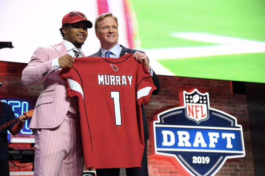 Quarterback Kyler Murray after being selected first overall in the 2019 NFL Draft.