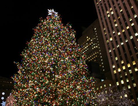 A previous Rockefeller Center Christmas Tree all decorated and lit up. The 2020 tree is set to be lit on live TV on Dec. 2.
