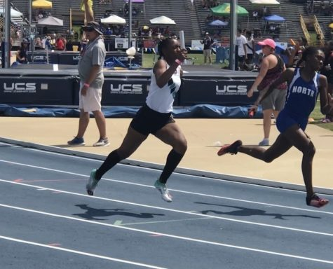 "At 4a states, sophomore Kira Lewis races against her opponents at North Carolina Agricultural and Technical State University, where Reagan placed third. ""I hope to bring down all of my times by a second or two which would really help with college admissions next year."" said Lewis, when asked about her goals for this year."